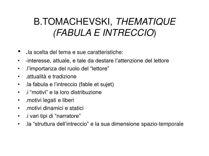B.TOMACHEVSKI,