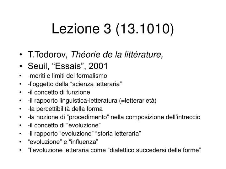 Lezione 3 (13.1010)