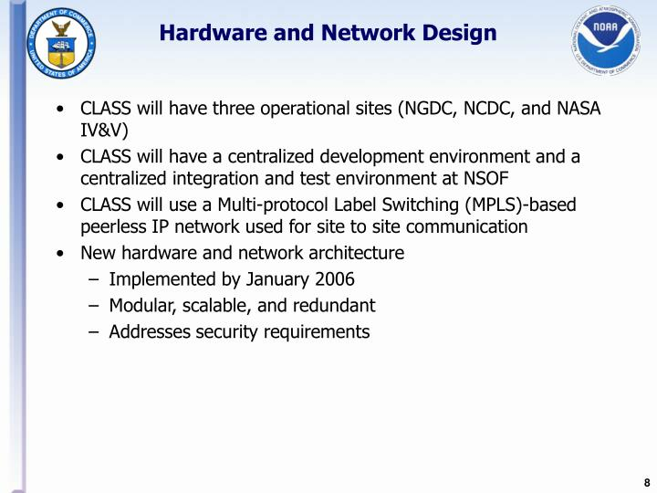Hardware and Network Design
