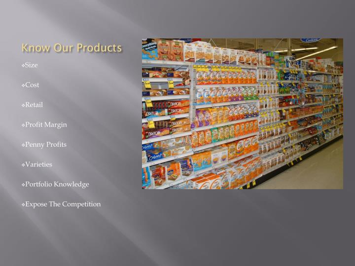 Know Our Products