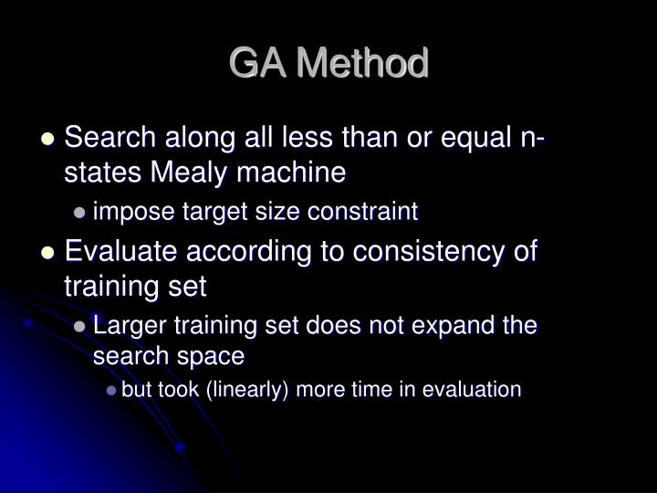 GA Method