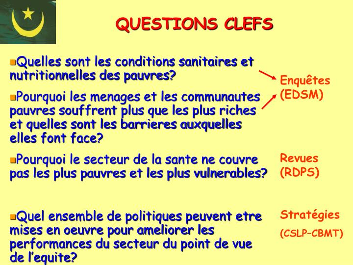 QUESTIONS CLEFS