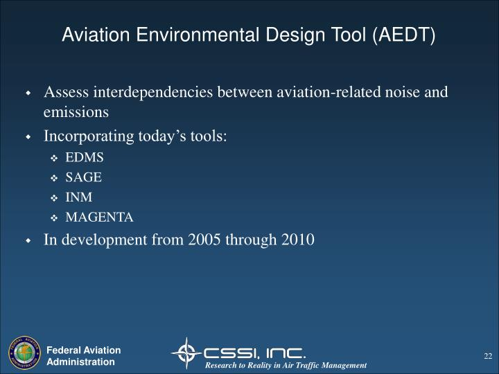 Aviation Environmental Design Tool (AEDT)
