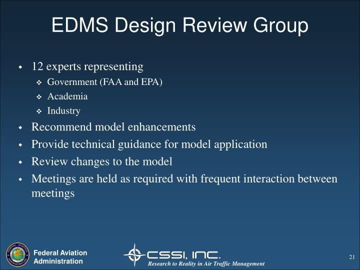 EDMS Design Review Group