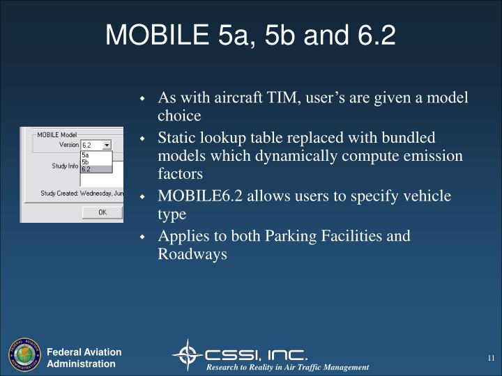 MOBILE 5a, 5b and 6.2
