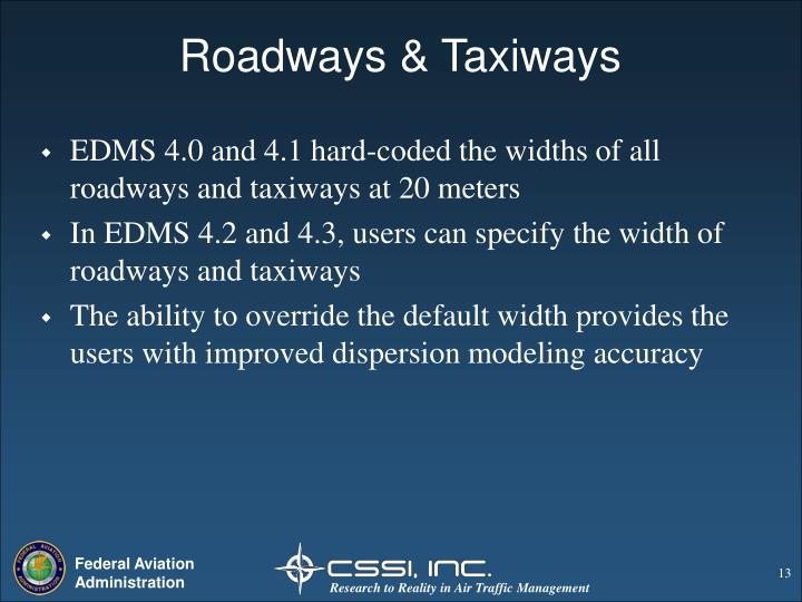 Roadways & Taxiways