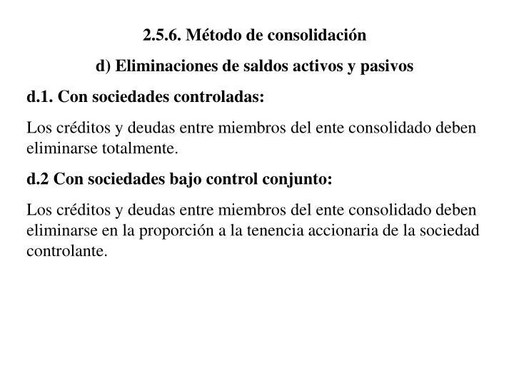 2.5.6. Método de consolidación