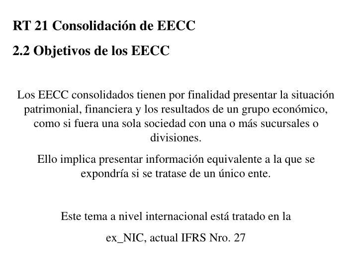 RT 21 Consolidación de EECC