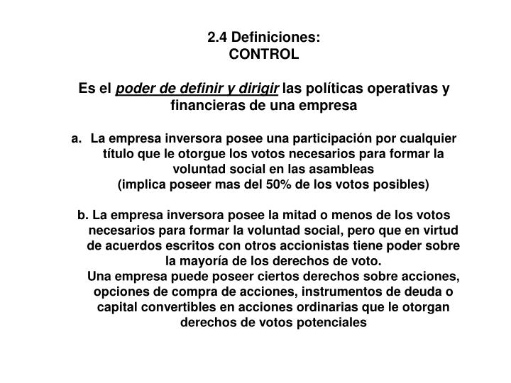 2.4 Definiciones:
