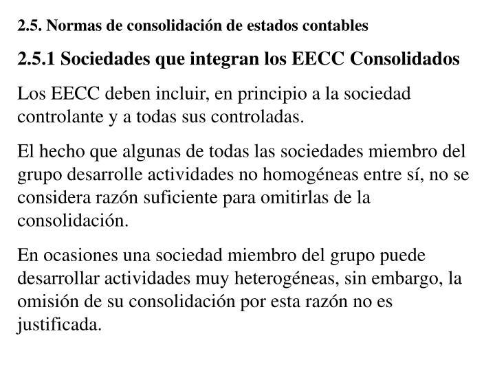 2.5. Normas de consolidación de estados contables