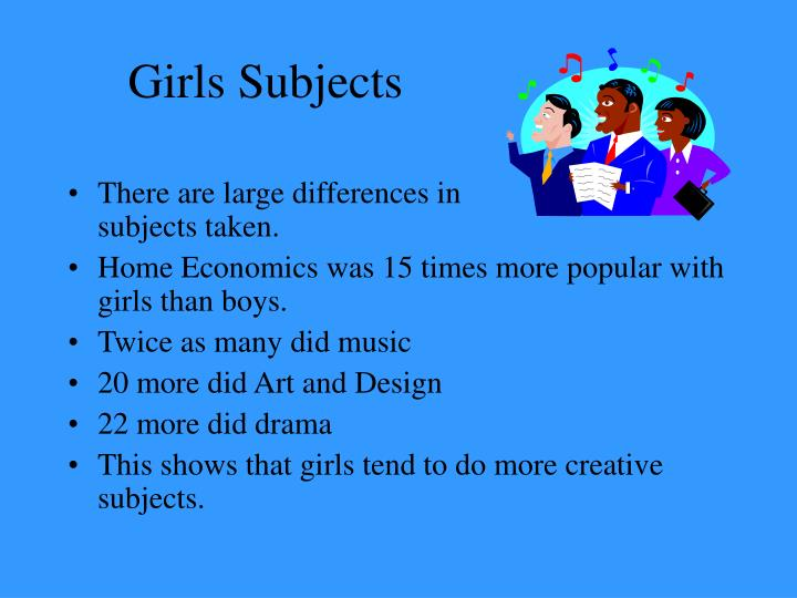 Girls subjects