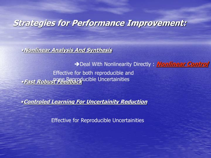 Strategies for Performance Improvement:
