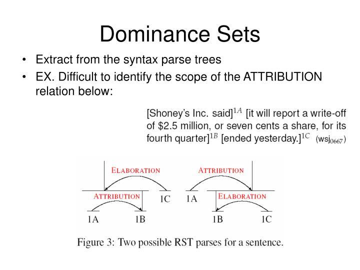 Dominance Sets