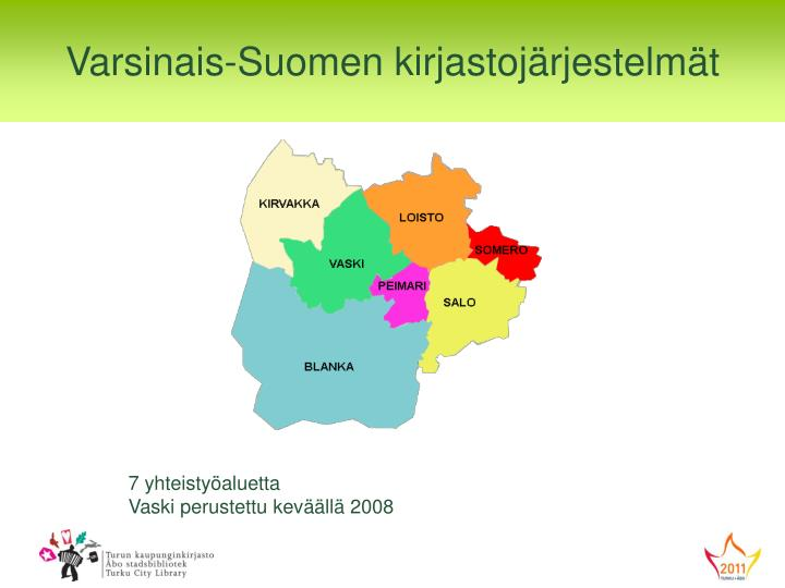 Varsinais-Suomen kirjastojärjestelmät