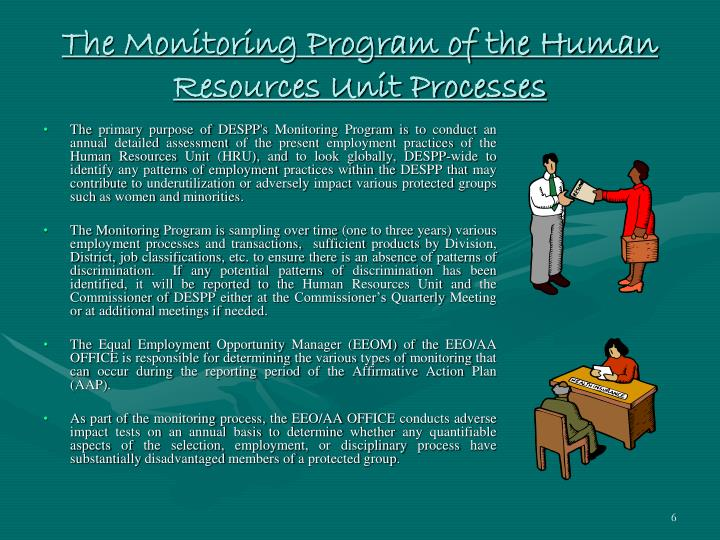The Monitoring Program of the Human Resources Unit Processes