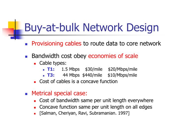 Buy-at-bulk Network Design