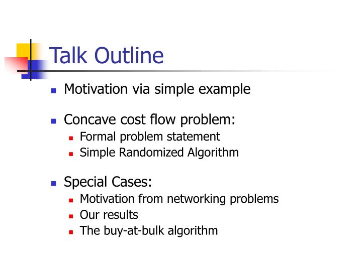 Talk outline