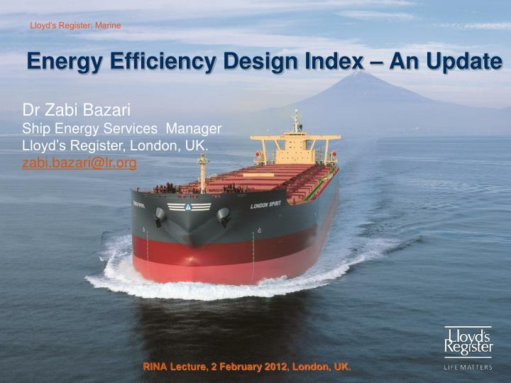 Energy efficiency design index an update