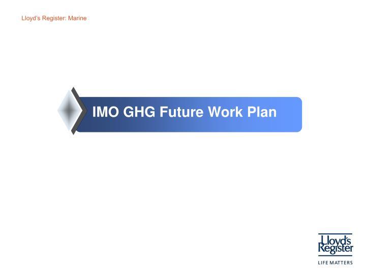 IMO GHG Future Work Plan