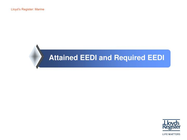 Attained EEDI and Required EEDI