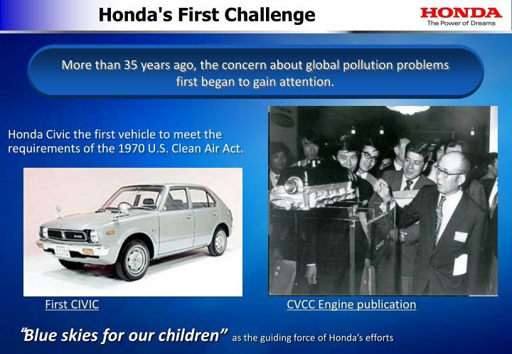 Honda's First Challenge