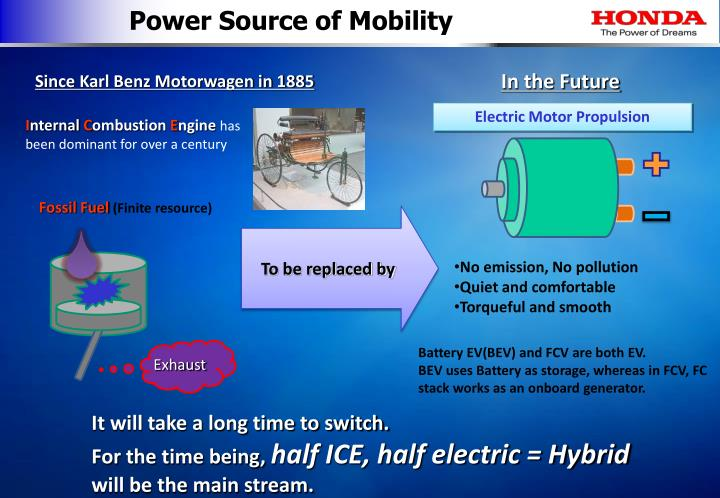 Power Source of Mobility
