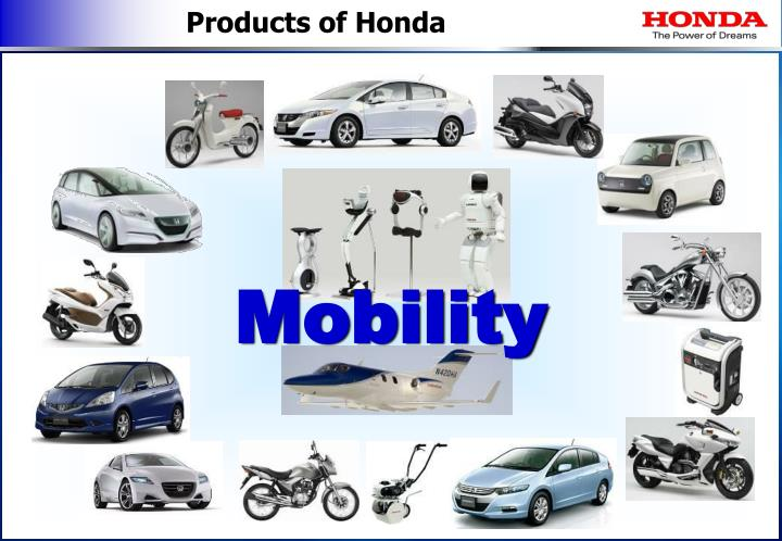 Products of Honda