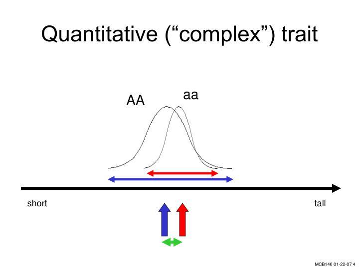 """Quantitative (""""complex"""") trait"""
