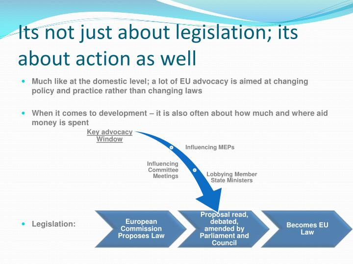 Its not just about legislation; its about action as well