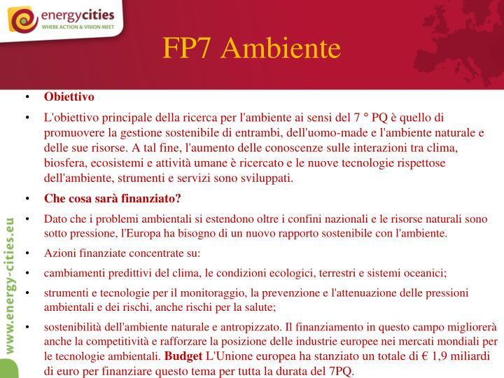 FP7 Ambiente
