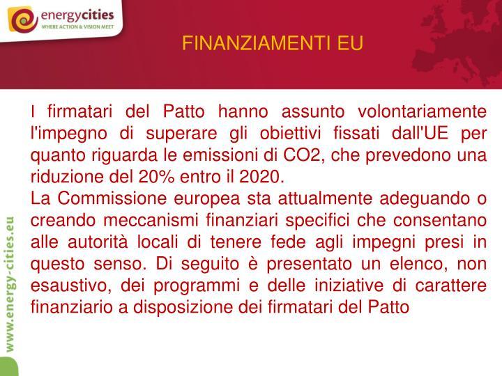 FINANZIAMENTI EU