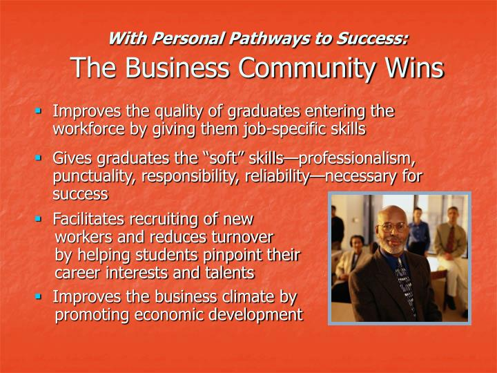 With Personal Pathways to Success:
