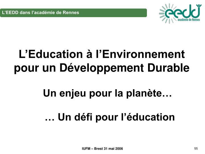 L'EEDD dans l'académie de Rennes