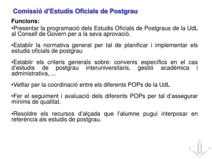 Comissió d'Estudis Oficials de Postgrau