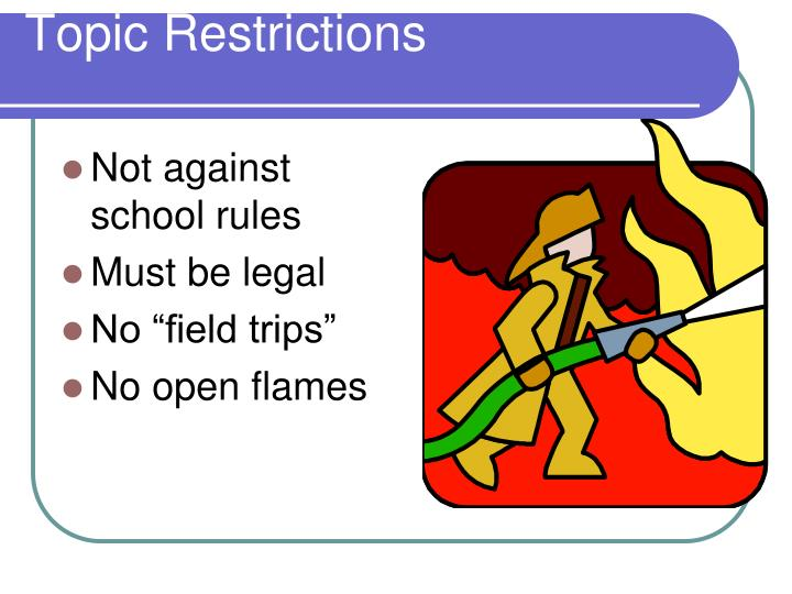Topic Restrictions