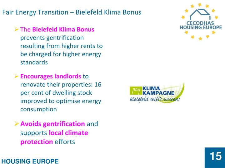 Fair Energy Transition – Bielefeld Klima Bonus