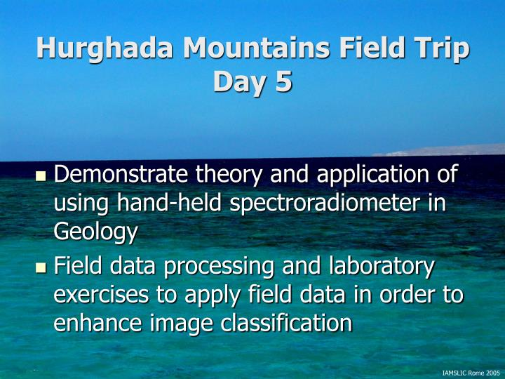 Hurghada Mountains Field Trip