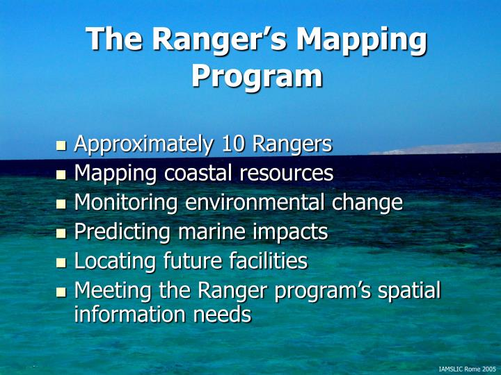 The Ranger's Mapping Program