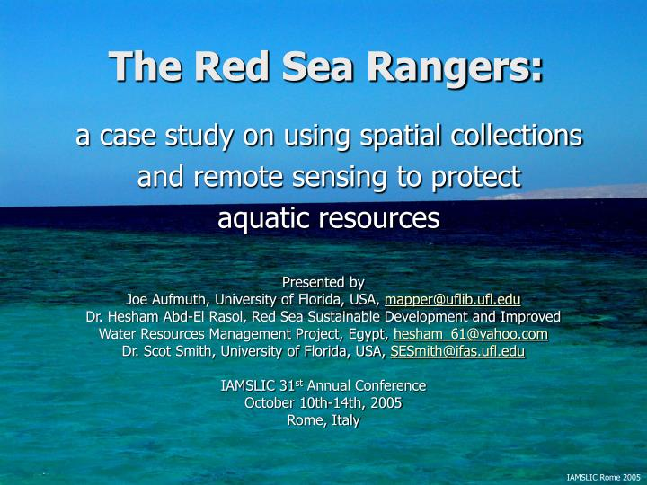 The red sea rangers