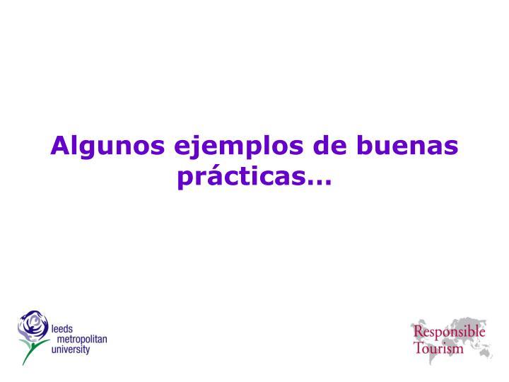 Algunos ejemplos de buenas prácticas…