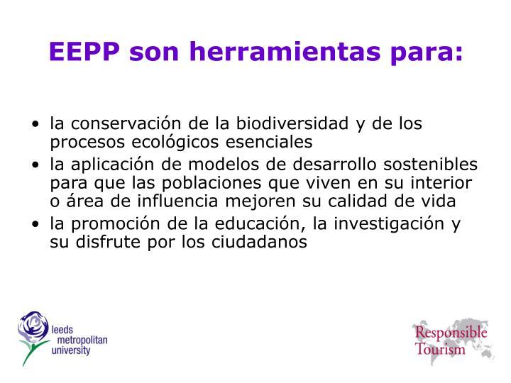 EEPP son herramientas para: