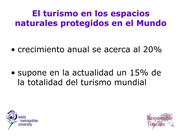 El turismo en los espacios naturales protegidos en el Mundo