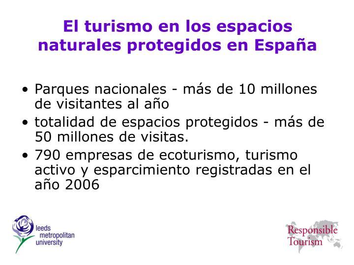 El turismo en los espacios naturales protegidos en España