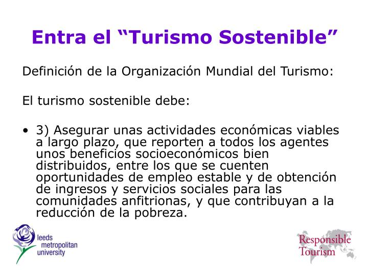 """Entra el """"Turismo Sostenible"""""""