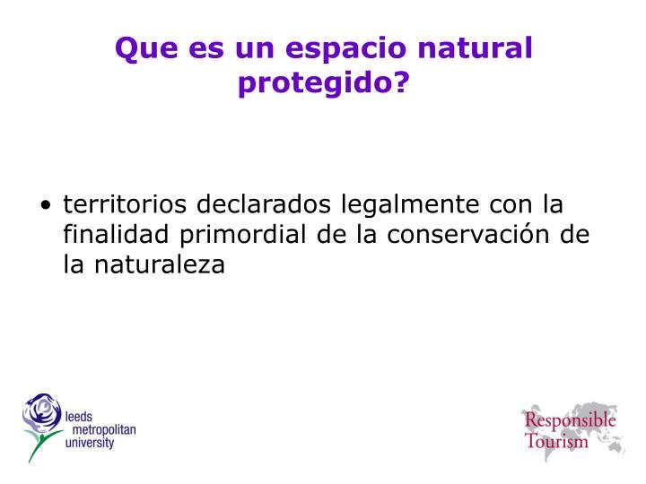 Que es un espacio natural protegido?