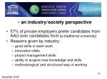 an industry society perspective