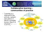 collaborative learning communities of practice