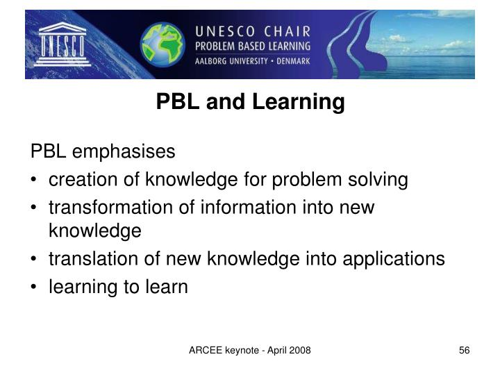 PBL and Learning