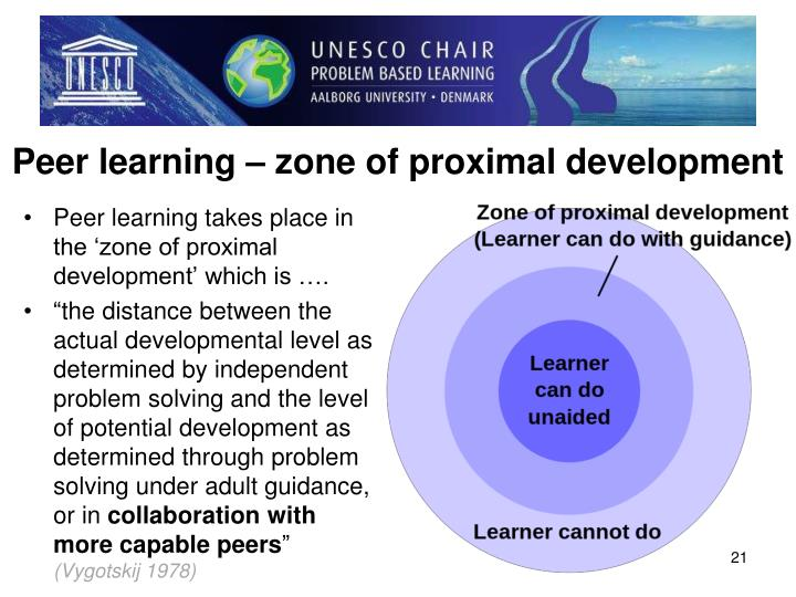 Peer learning – zone of proximal development
