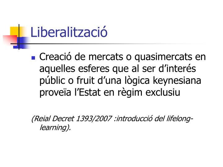 Liberalització
